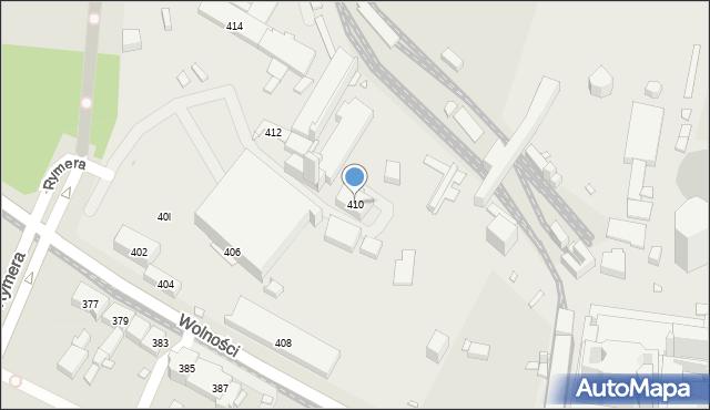 Zabrze, Wolności, 410, mapa Zabrza