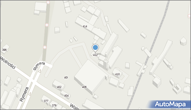 Zabrze, Wolności, 412, mapa Zabrza