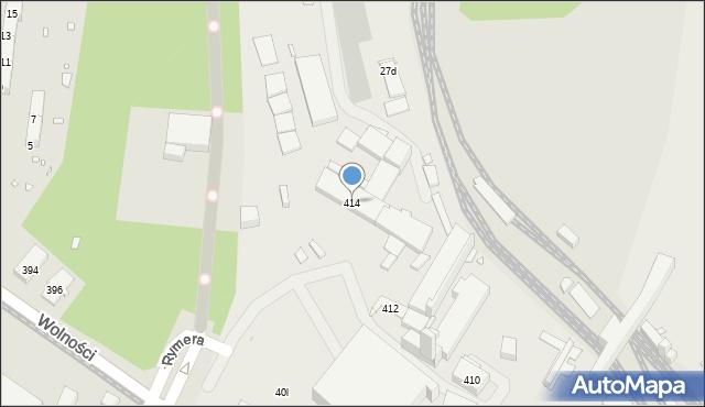 Zabrze, Wolności, 414, mapa Zabrza