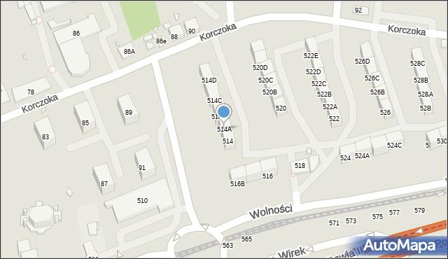 Zabrze, Wolności, 514A, mapa Zabrza