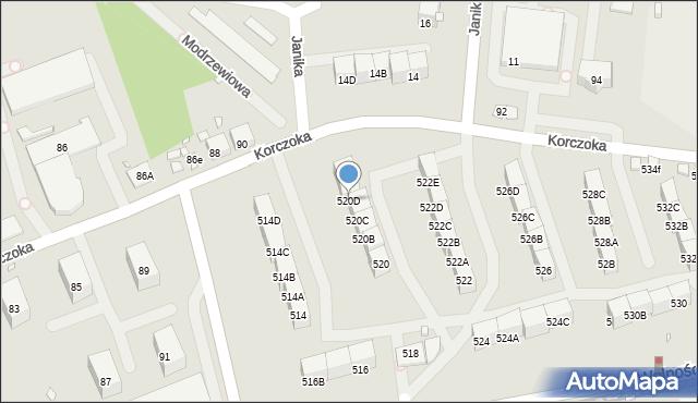 Zabrze, Wolności, 520D, mapa Zabrza