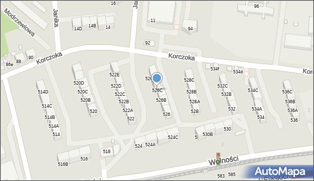Zabrze, Wolności, 526C, mapa Zabrza