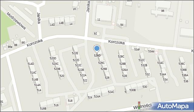 Zabrze, Wolności, 526D, mapa Zabrza
