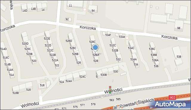 Zabrze, Wolności, 528A, mapa Zabrza