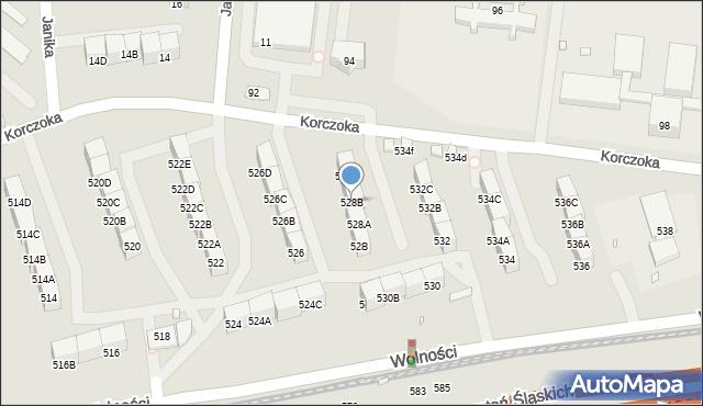 Zabrze, Wolności, 528B, mapa Zabrza