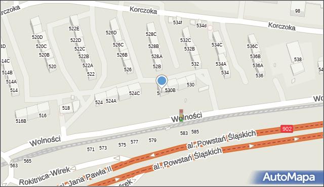 Zabrze, Wolności, 530C, mapa Zabrza