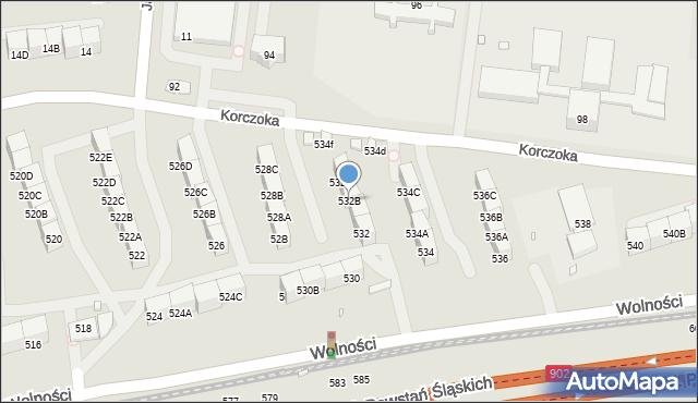 Zabrze, Wolności, 532B, mapa Zabrza
