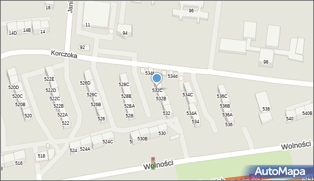 Zabrze, Wolności, 532C, mapa Zabrza