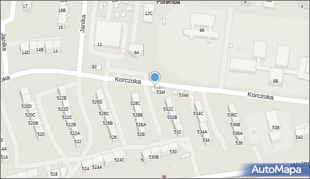 Zabrze, Wolności, 534g, mapa Zabrza