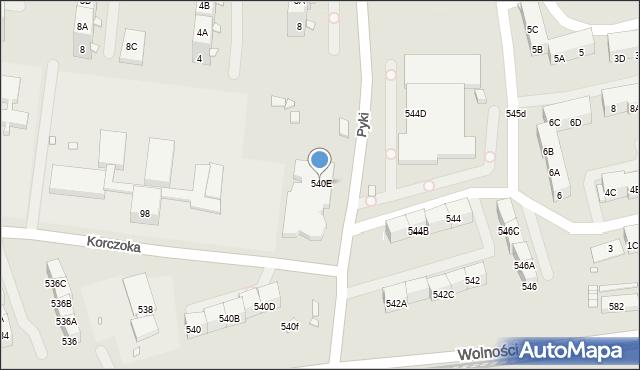 Zabrze, Wolności, 540E, mapa Zabrza