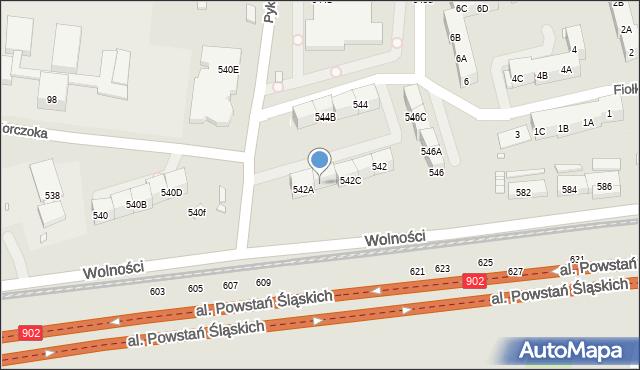 Zabrze, Wolności, 542B, mapa Zabrza