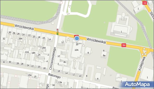 Bytom, Wrocławska, 10, mapa Bytomia