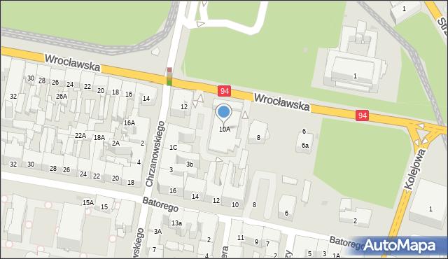 Bytom, Wrocławska, 10A, mapa Bytomia