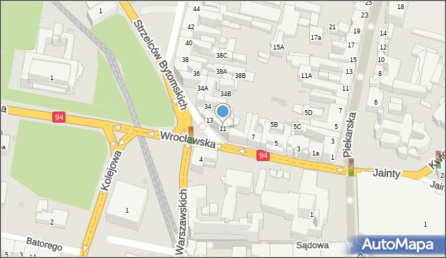 Bytom, Wrocławska, 11, mapa Bytomia