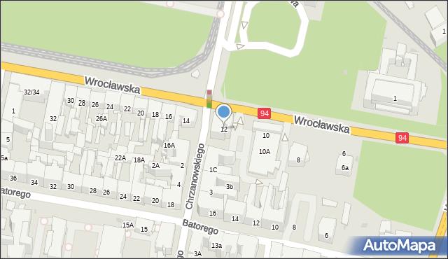 Bytom, Wrocławska, 12, mapa Bytomia