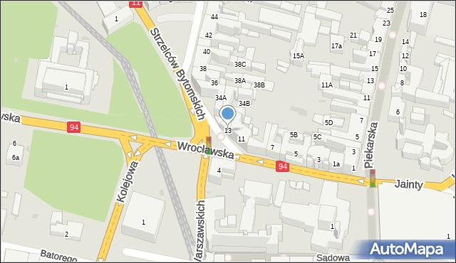 Bytom, Wrocławska, 13, mapa Bytomia