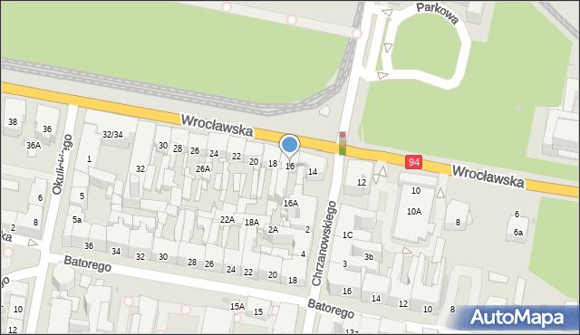 Bytom, Wrocławska, 16, mapa Bytomia
