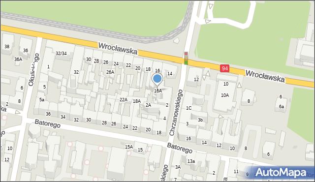 Bytom, Wrocławska, 16A, mapa Bytomia