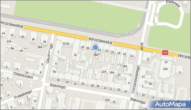 Bytom, Wrocławska, 26A, mapa Bytomia