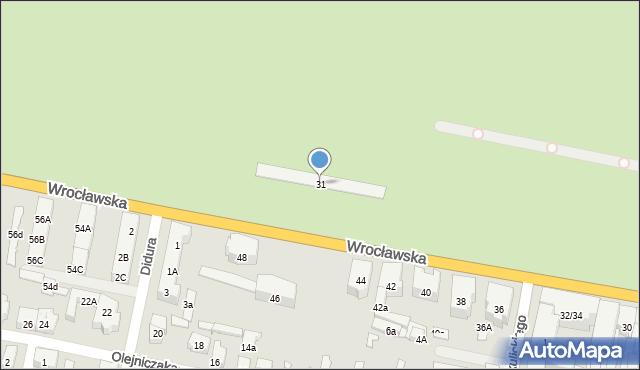Bytom, Wrocławska, 31, mapa Bytomia