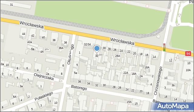 Bytom, Wrocławska, 32, mapa Bytomia