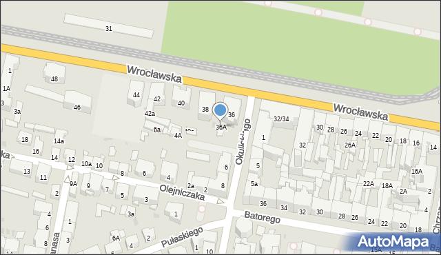 Bytom, Wrocławska, 36A, mapa Bytomia