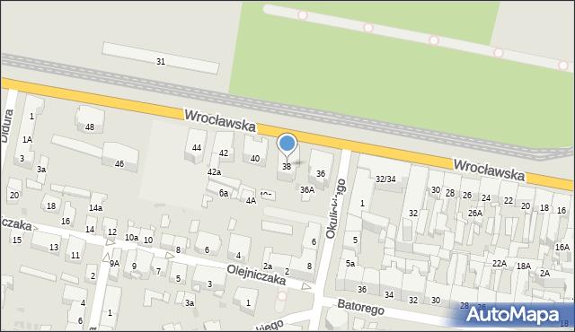Bytom, Wrocławska, 38, mapa Bytomia