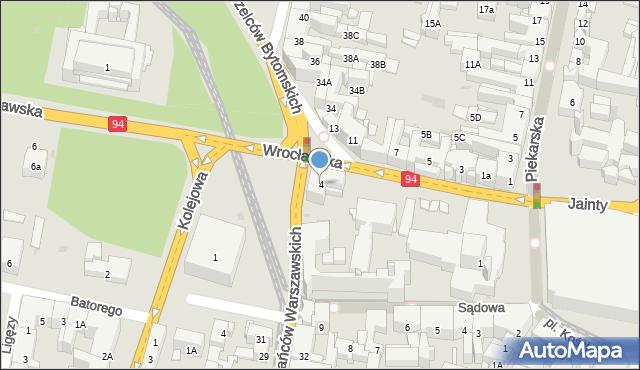 Bytom, Wrocławska, 4, mapa Bytomia