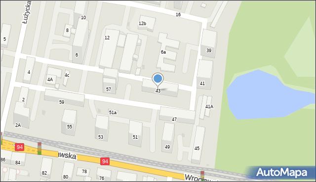 Bytom, Wrocławska, 43, mapa Bytomia