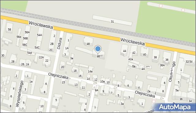 Bytom, Wrocławska, 46, mapa Bytomia