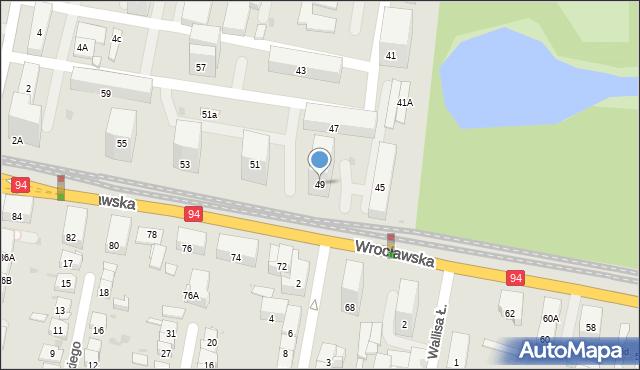 Bytom, Wrocławska, 49, mapa Bytomia