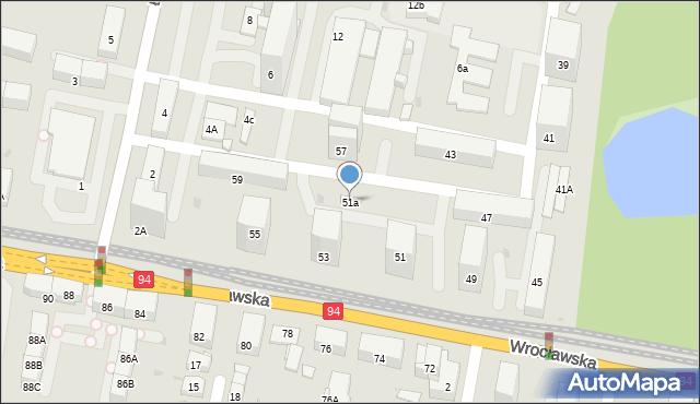 Bytom, Wrocławska, 51a, mapa Bytomia