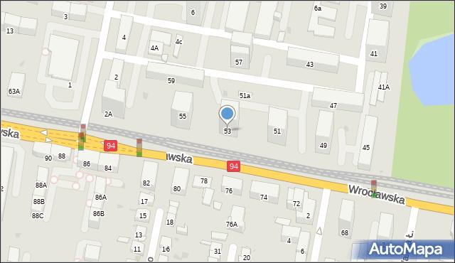 Bytom, Wrocławska, 53, mapa Bytomia