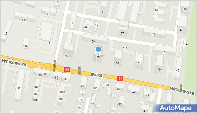Bytom, Wrocławska, 55, mapa Bytomia