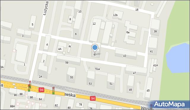 Bytom, Wrocławska, 57, mapa Bytomia