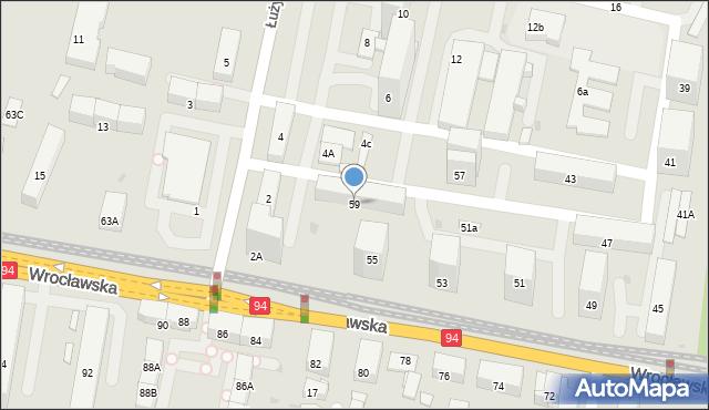 Bytom, Wrocławska, 59, mapa Bytomia