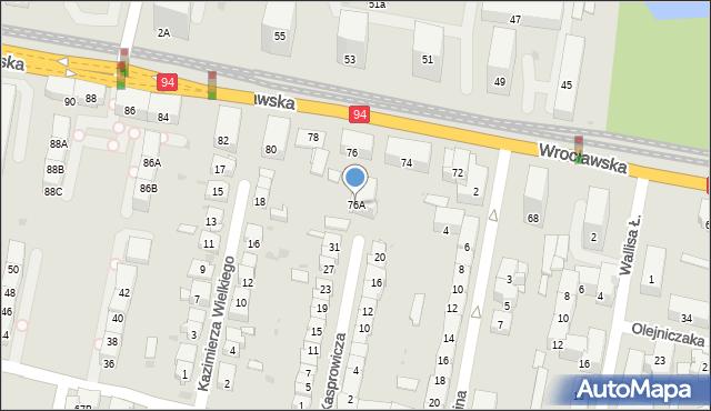 Bytom, Wrocławska, 76A, mapa Bytomia