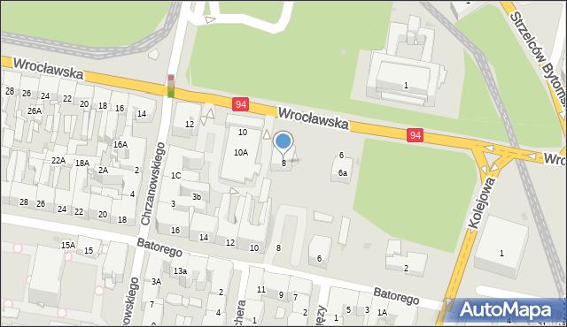 Bytom, Wrocławska, 8, mapa Bytomia