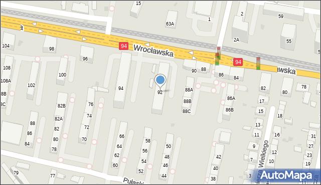 Bytom, Wrocławska, 92, mapa Bytomia