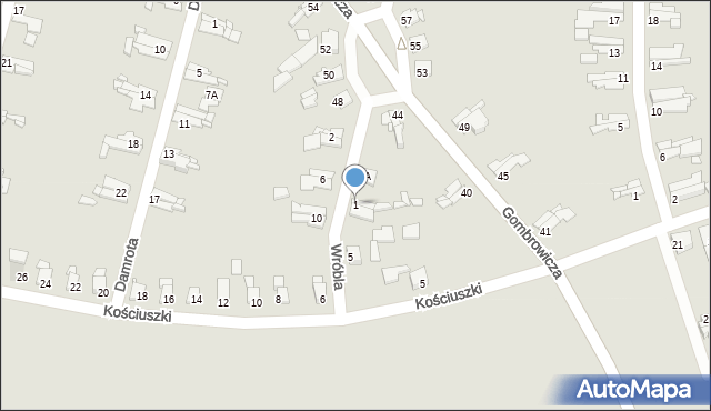 Bytom, Wróbla Jana, 1, mapa Bytomia