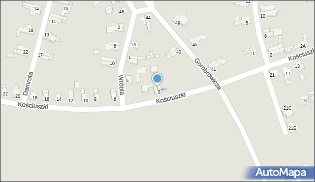 Bytom, Wróbla Jana, 5A, mapa Bytomia