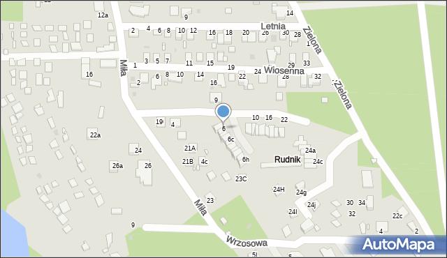 Grudziądz, Wrzosowa, 6, mapa Grudziądza