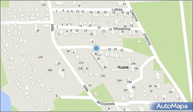 Grudziądz, Wrzosowa, 6a, mapa Grudziądza