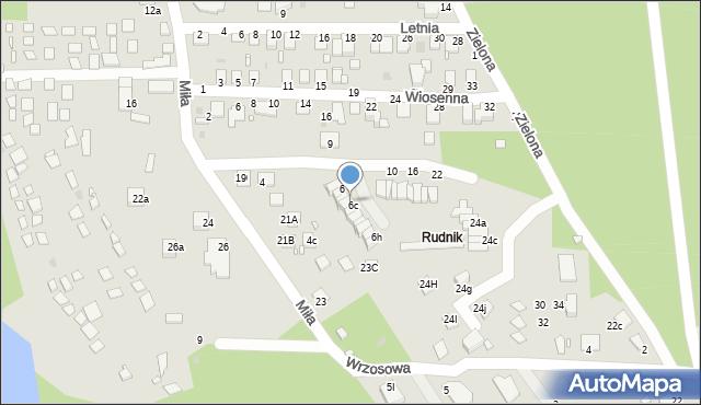 Grudziądz, Wrzosowa, 6b, mapa Grudziądza