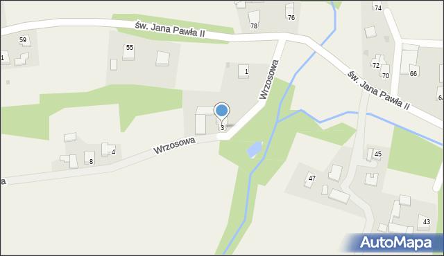 Nidek, Wrzosowa, 3, mapa Nidek