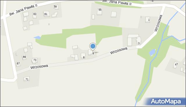 Nidek, Wrzosowa, 4, mapa Nidek