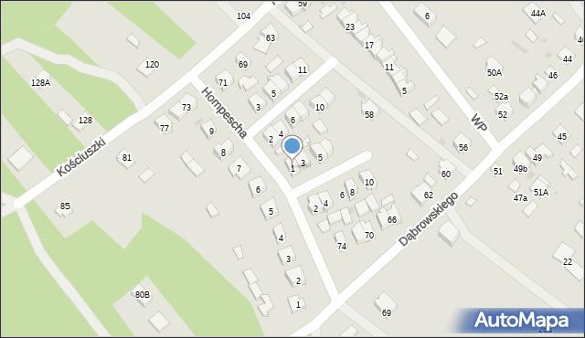 Rudnik nad Sanem, Wrzosowa, 1, mapa Rudnik nad Sanem