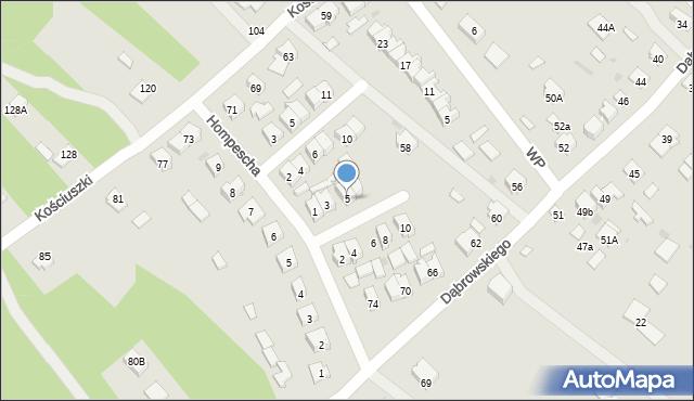 Rudnik nad Sanem, Wrzosowa, 5, mapa Rudnik nad Sanem