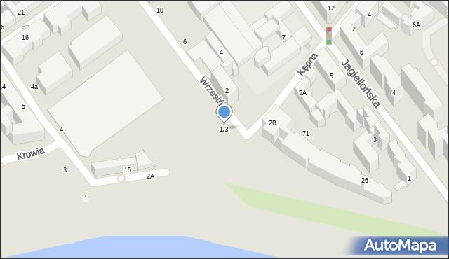Warszawa, Wrzesińska, 1/3, mapa Warszawy