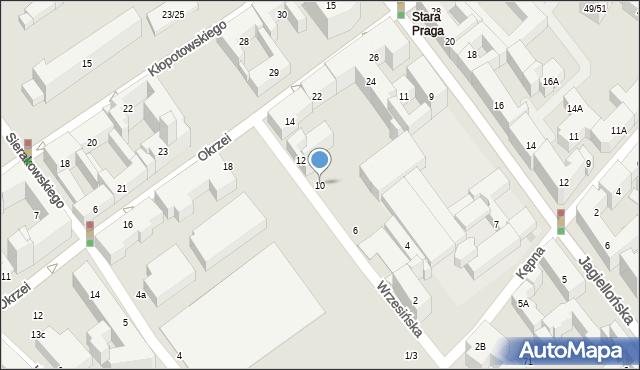 Warszawa, Wrzesińska, 10, mapa Warszawy